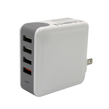 New arrivals 4 usb ports 50w quick charge 3.0 wall charger for smart phone