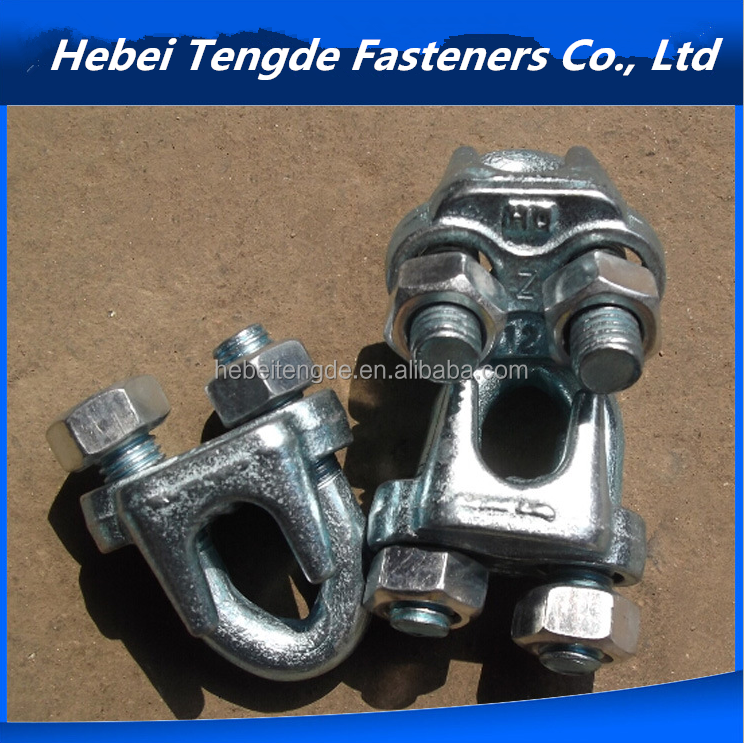 clamp fastener high quality wire rope cross clamp steel rope fasteners