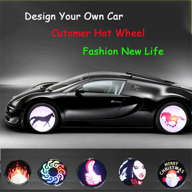 2017 trending products programmable car wheel light car led light