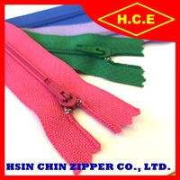 China factory no 3 with cord auto lock nylon zippers for dresses
