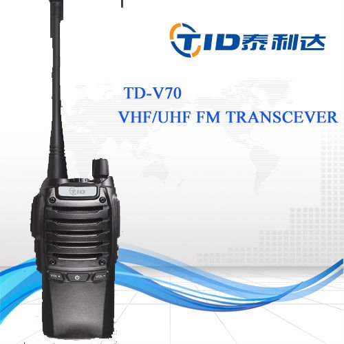 TD-V70 Factory direct sale fm transceiver long range handheld vhf radio