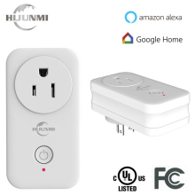 Wireless Multifunctional Smart US standard Amazon Alexa wifi power Plug meter socket for home solutions free APP remote control