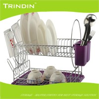 MD007 hot sell metal dish rack/8 wire plate holder