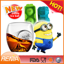 RENJIA 4 cups ice cube tray 4 cups silicone ice shooter 2 inch ice ball