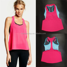 Leisure Women's wholesale soft custom made cotton polyester fashion wear high quality tank top