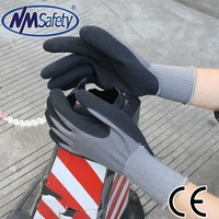 NMSAFETY latex palm coated cheap latex gloves