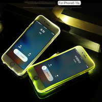 Newest no need battery flash light phone case cover for apple iPhone 6