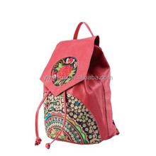 ladies colorful shoulder bags gypsy printing custom embroidered backpack