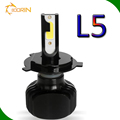car lights led bulb with No fan 2 color in 1 lamp 24w 2400lm L5 G20 hb3 hb4 9003 9008 9012 5202 h15 h16 can bus 6v led headlight
