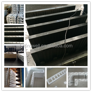Longwell hot sale eps icf mold buy icf mold eps icf mold for Foam concrete forms for sale