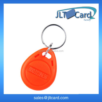 waterproof RFID keyfobs 125KHz proximity ABS key tags/for access control Writable & Readable keychain for ATMEL T5577 chip