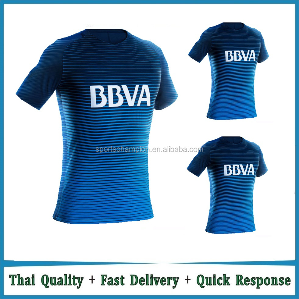 Cheap Wholesale Top Thai quality Boca soccer jersey Junior football camiseta de futbol