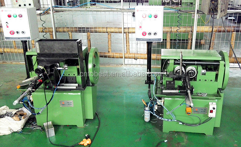 stainless steel solid bar thread rolling machine thread bolt machine