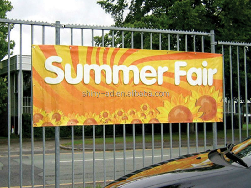 Weather resistant banner, outdoor banner, large format printing frontlit banner