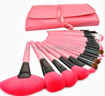 2015 New Pink Makeup Brushs 24 pcs Per Set Cosmetics Tool With PU Bag-Makeup-Kit 2015-New-Pink-Makeup-Brushs-24-pcs-Per-Set-Co