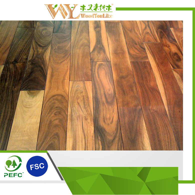 Prefinished 단단한 금발 아시아 호두 아카시아 나무 나무 바닥 샘플 ...