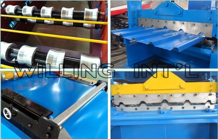 Automatic Double Layer Color Aluminum Steel Roofing Roll Forming Machine