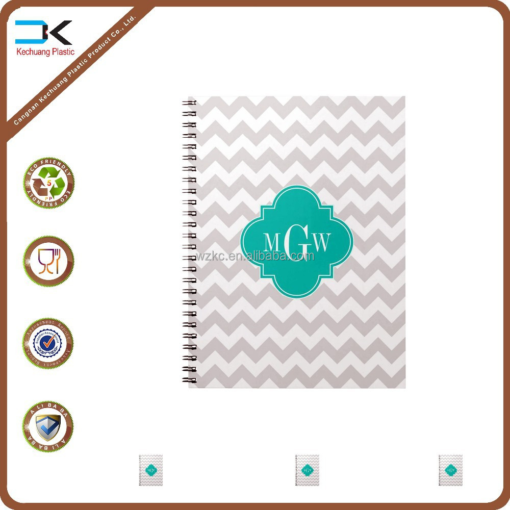 Office supplier cheap spiral notebook with pp cover