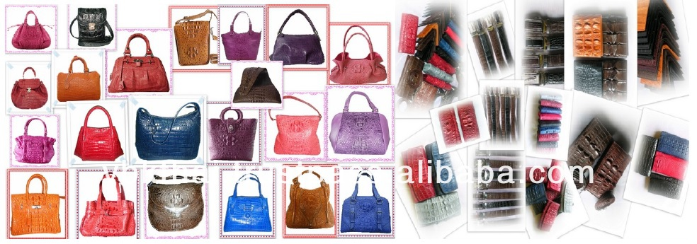 CROCODILE LEATHER BAGS, BELTS, KEYCHAINS AND ACCESSORIES