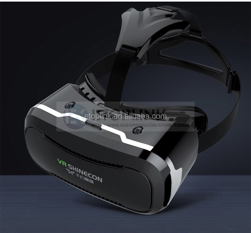 VR Shinecon II 2 Virtual Reality Headset 3D IMAX Video Glasses Private Theater for Movies Games 4.7 - 6 inch Mobile Phones