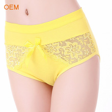OEM Hi-waist Lace Sliming Brief Sexy Lingerie Underwear For Fat Women Hipster Panties Pics WYP093