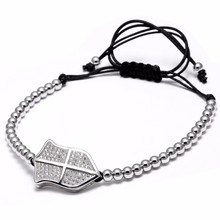 Mcllroy cheap wholesale men titanium steel adjustable beads braided charm magnetic bracelet AA161011