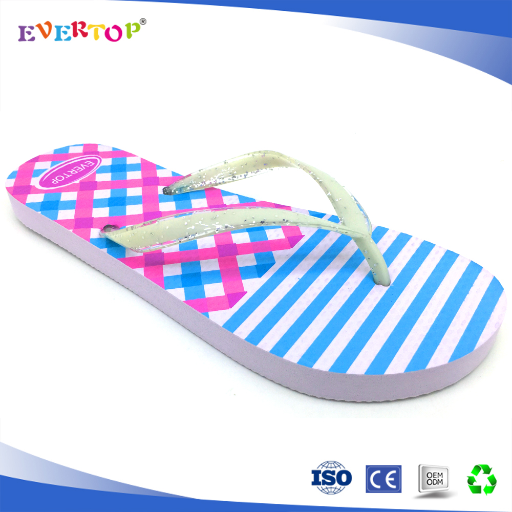 EVERTOP garden BLANK slippers New Style shoes Women Sexy and Fashion Platform Wedge rubber Flip Flops room slippers