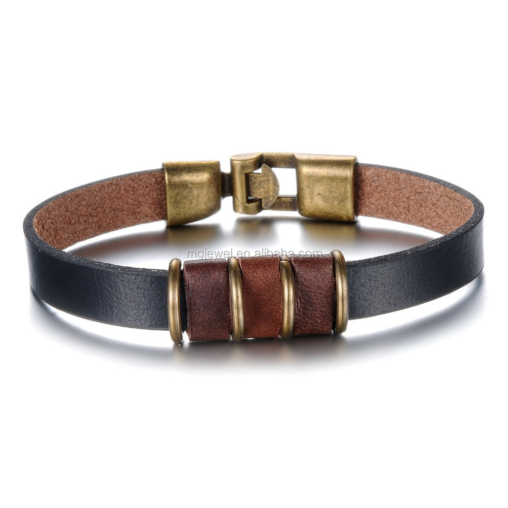 2015 Hot Selling Handmade Bracelet Mens Leather Bracelet ...