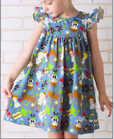 girls pearls cartoon yiwu supplier kids pearl dress cartoon unique back to school dress