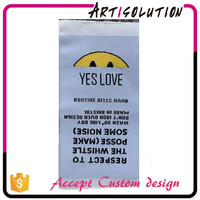 Personalized wholesale custom fabric clothing label tags
