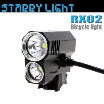 StarryLight RX02 remote switch 1600 lumen rechargeable MTB LED bike light