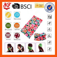 Flowers Design New Products 2016 Hair Accessories Scarves Cooling Bandana Scarf Wholesale Seamless Neck Tube Bandana
