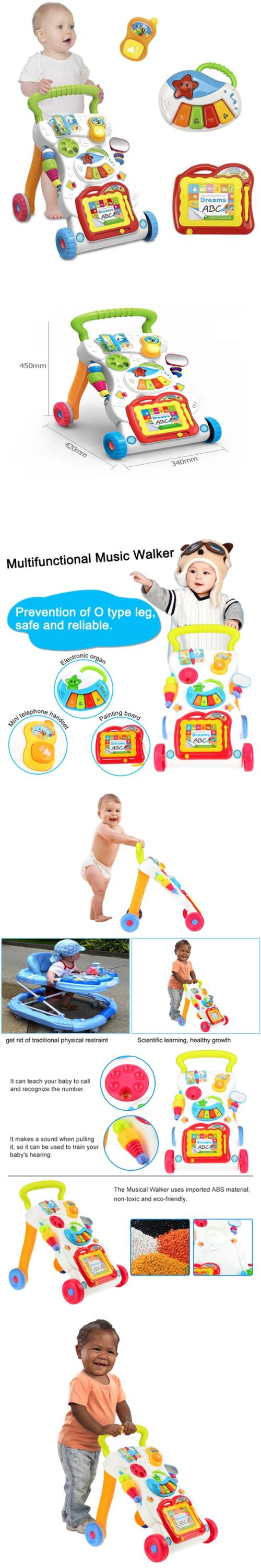 China cheapest children kids baby toy parts learning baby walker for wholesale