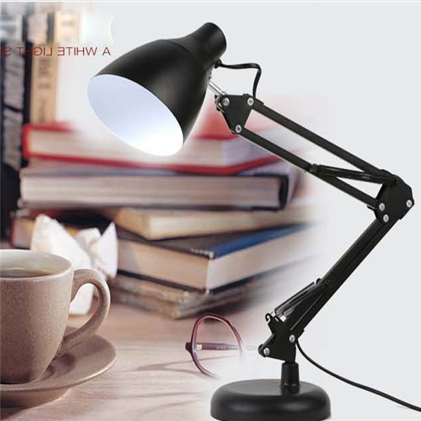 LED desk lamp Eyeshield Dimmable Touch long arm Foldable table work lights