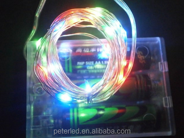 LED battery string light 0.06w power hot selling decoration for family