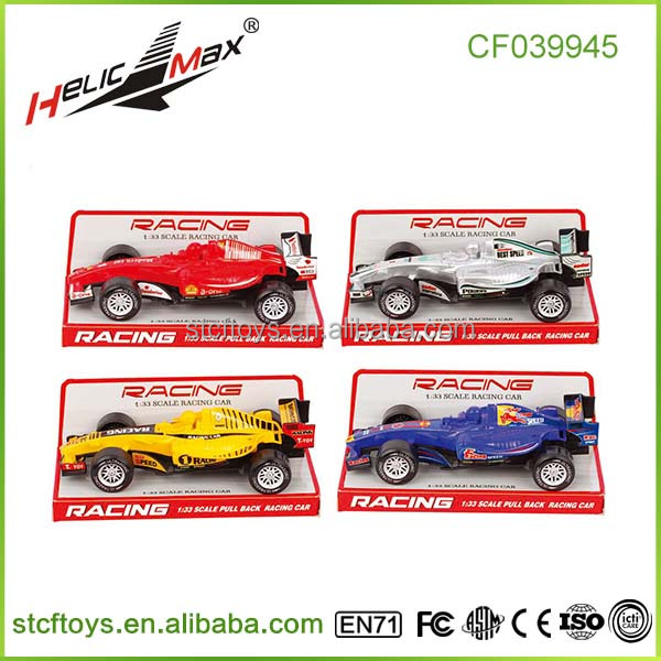 Shantou 1:33 scale formula pull back racing car Sports car toys for kids China wholesale
