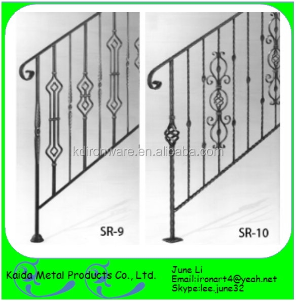 pictures wrought iron used mild steel railing for staircase