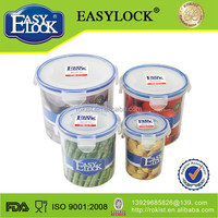 Warehouse Plastic Storage Bins:airtight watertight microwave round plastic airtight spice jars