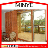Cheap price thermal break aluminum folding door with double tempered safety glass alibaba china