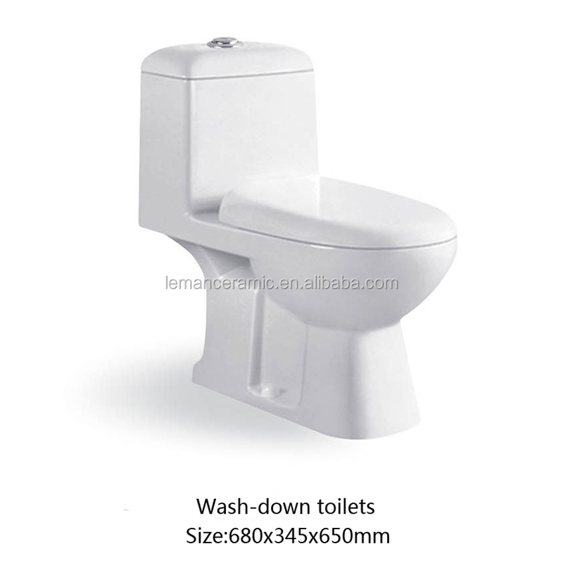 LM-019 Small Wash-down ceramic ine piece toilet for bathroom sanitary ware