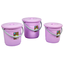 2017 Alibaba hot sale stackable plastic bucket design