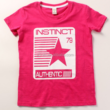 Fashion t-shirt baby tshirts girls slim fit t-shirt wholesale screen printed t shirt