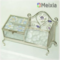 Glass jewelry box handmade for wholesale China