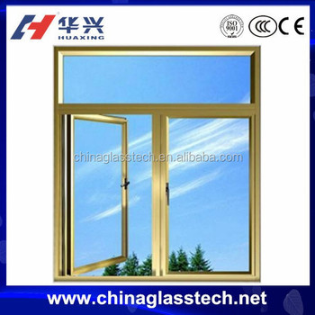 Aluminum Sound Insulation Clear Window Glass Types In