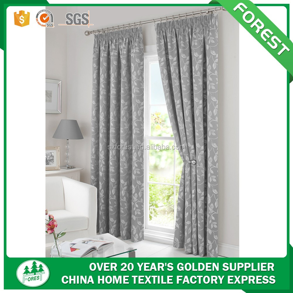 Top sale 100%polyester new jacquard curtain design for Europe market