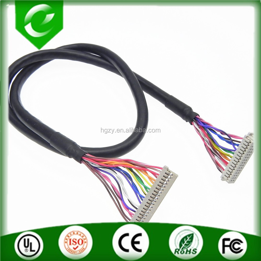 Custom make DF14 to DF13 lvds cable both end with shrink tube