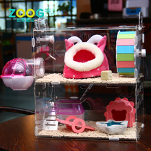 New customized fancy acrylic hamster cage with tubes