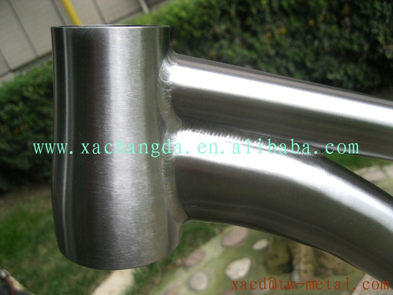 titanium MTB bike frame with taper head tube light weight Ti mountain bike frame made in china