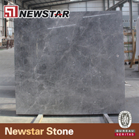 Customed silver dark grey polished marble for bath vanity tops