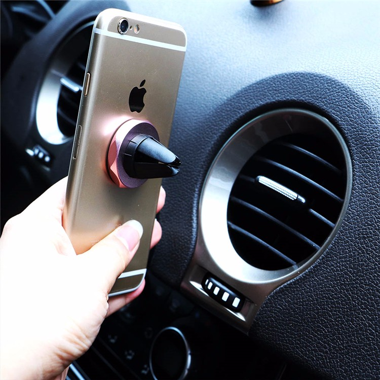Universal Mini Magnetic Material Phone Mount Car Air Vent Mount Magnet Cellphone Holder